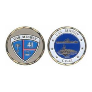 USS Midway CV-41 Challenge Coin
