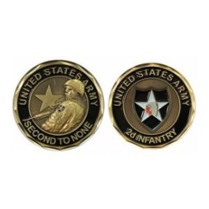 Army 2nd Infantry Division Challenge Coin