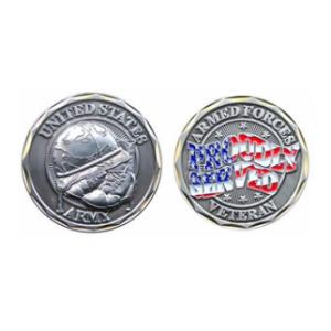 Proudly Served Army Veteran Challenge Coin