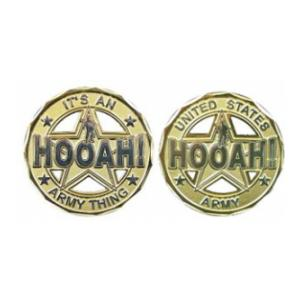 Army HOOAH Cut-Out Challenge Coin