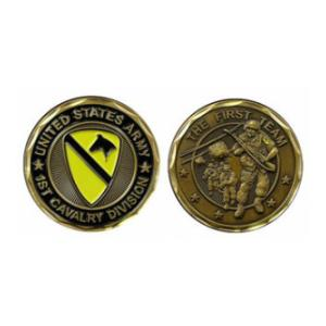 Army First Cavalry Challenge Coin