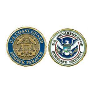 Coast Guard Department Of Homeland Security Challenge Coin