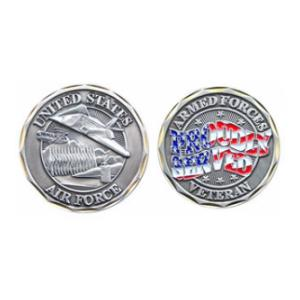 Prouldy Served Air Force Veteran Challenge Coin