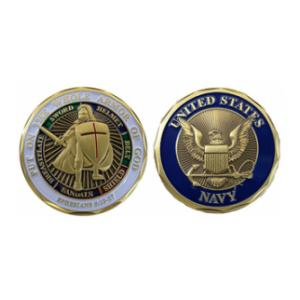 Navy Armor of God Challenge Coin