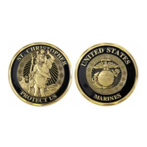 Marine Corps St. Christopher Challenge Coin