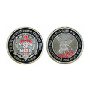 Armor of God (Ephesians 6:10-18) St. Michael Challenge Coin