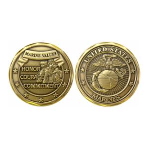 Marine Values Challenge Coin