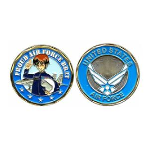 Proud Air Force Brat Challenge Coin