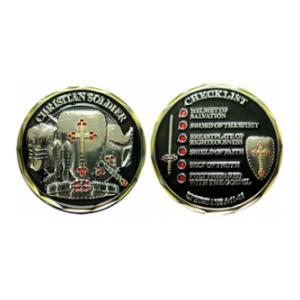 Christian Soldier Checklist Challenge Coin