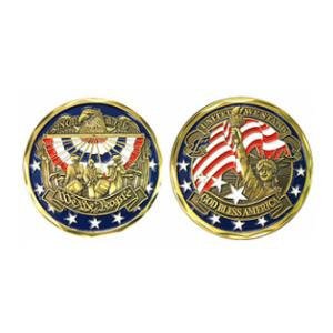 We The People Patriotic Challenge Coin