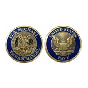 Navy St. Michael Challenge Coin