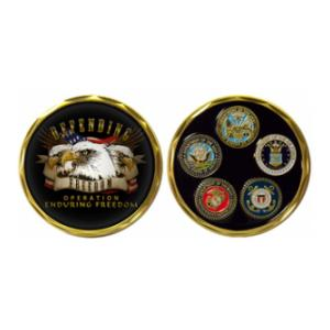OEF Defending Freedom Challenge Coin