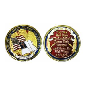 Wings as Eagles (Isaiah 40:31) Challenge Coin
