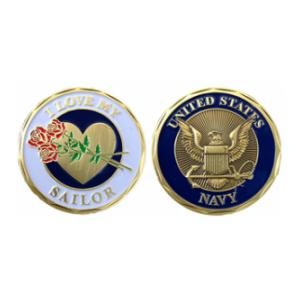 I Love My Sailor Challenge Coin