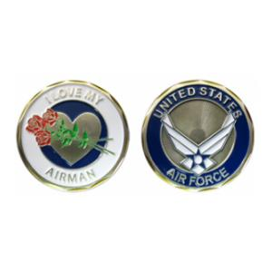I Love My Airman Challenge Coin