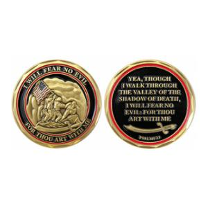 Marine Corps Psalms 23 Challenge Coin