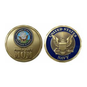 Proud Navy Mom Challenge Coin