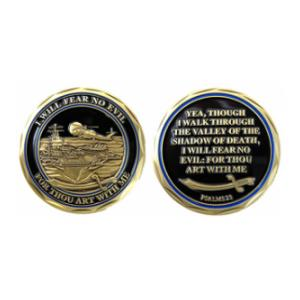 Navy Psalms 23 Challenge Coin