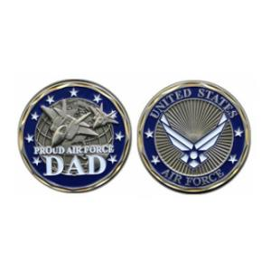 Proud Air Force Dad Challenge Coin