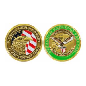 Operation Enduring Freedom September 11th Challenge Coin