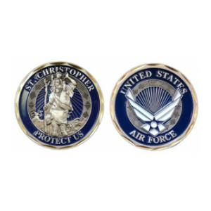 Air Force St. Christopher Challenge Coin