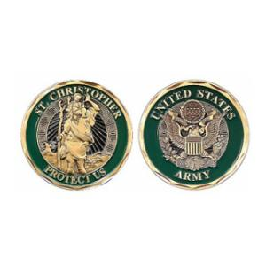 U.S. Army St. Christopher Challenge Coin