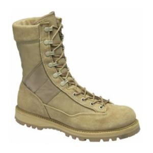 "9"" Women's Corcoran Tan Fleshout Leather and Cordura Non-Insulated Desert Combat Boot"