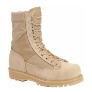 "9"" Corcoran Tan Fleshout Leather and Cordura Non-Insulated Desert Combat Boot"