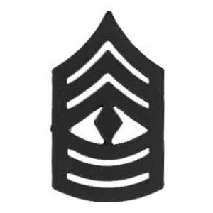 Marine Corps 1st Sergeant (Metal Chevron) (Subdued)