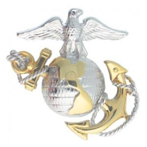 Marine Corps Officer Cap Badge (Regulation)