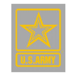 US Army Star Yellow Vinyl Transfer