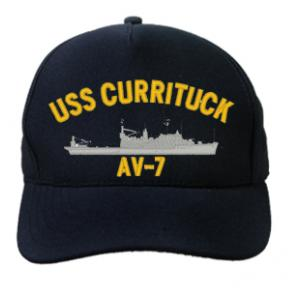 USS Currituck AV-7 (Dark Navy) (Direct Embroidered)