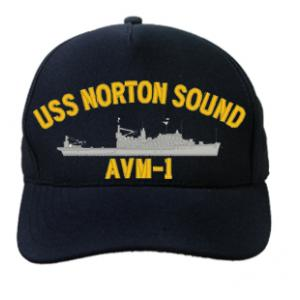 USS Norton Sound AVM-1 (Dark Navy) (Direct Embroidered)