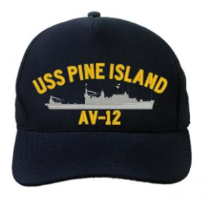 USS Pine Island AV-12 (Dark Navy) (Direct Embroidered)