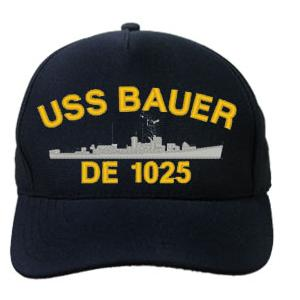 Uss Bauer De 1025 Cap Dark Navy Direct Embroidered
