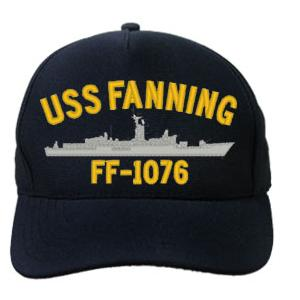 USS Fanning FF-1076 Cap (Dark Navy) (Direct Embroidered)