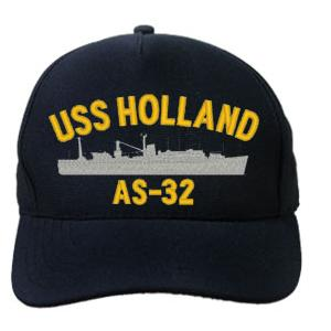 USS Holland AS-32 Cap (Dark Navy) (Direct Embroidered)