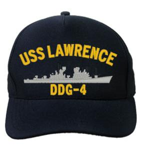 USS Lawrence DDG-4 Cap (Dark Navy) (Direct Embroidered)
