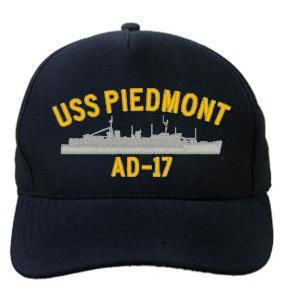 Uss Piedmont Ad 17 Cap Dark Navy Direct Embroidered