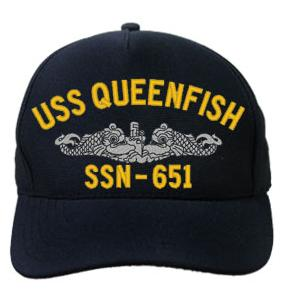 USS Queenfish SSN-651 Cap (Dark Navy) (Direct Embroidered)