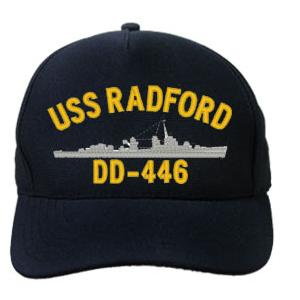 USS Radford DD-446 Cap (Dark navy) (Direct Embroidered)
