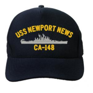 USS Newport News CA-148 Cap (Dark Navy) (Direct Embroidered)