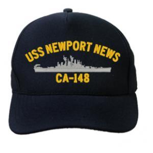 Uss Newport News Ca 148 Cap Dark Navy Direct