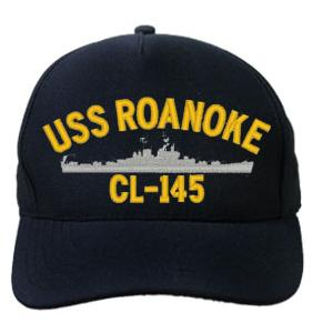 USS Roanoke CL-145 Cap (Dark Navy) (Direct Embroidered)