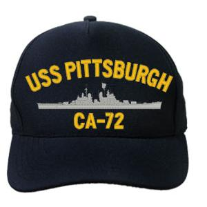USS Pittsburgh CA-72 Cap (Dark Navy) (Direct Embroidered)