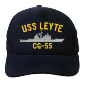 USS Leyte Gulf CG-55 Cap (Dark Navy) (Direct Embroidered)