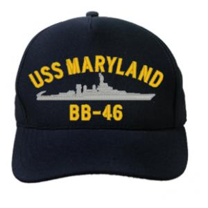 USS Maryland BB-46 Cap (Dark Navy) (Direct Embroidered)