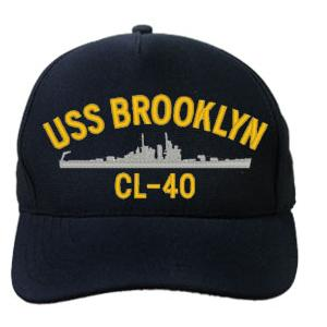 USS Brooklyn CL-40 Cap (Dark Navy) (Direct Embroidered)