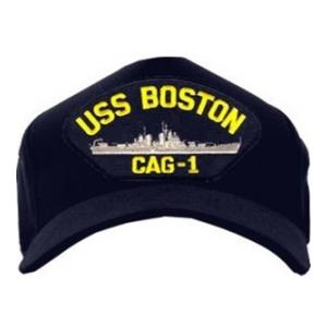USS Boston CAG-1 Baseball Cap (Dark Navy) (Direct Embroidered)