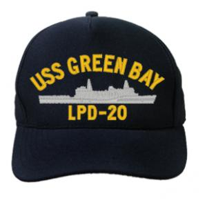 USS Green Bay LPD-20 Cap (Dark Navy) (Direct Embroidered)